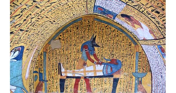 Peinture d'un tombeau royal – Egypte