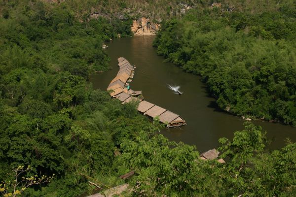The river kwai jungle rafts - Kanchanaburi
