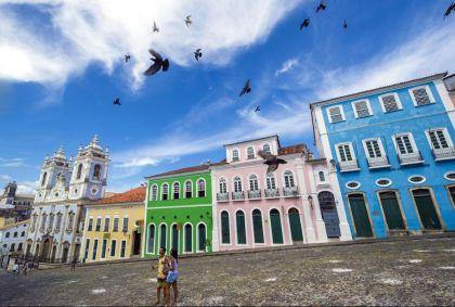 Place Largo do Pelourinho - Salvador de Bahia - Brésil - Franck Charton/hemis.fr