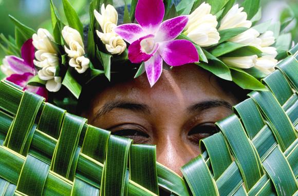 Portrait d'une Polynésienne, archipel des Marquises – Polynésie