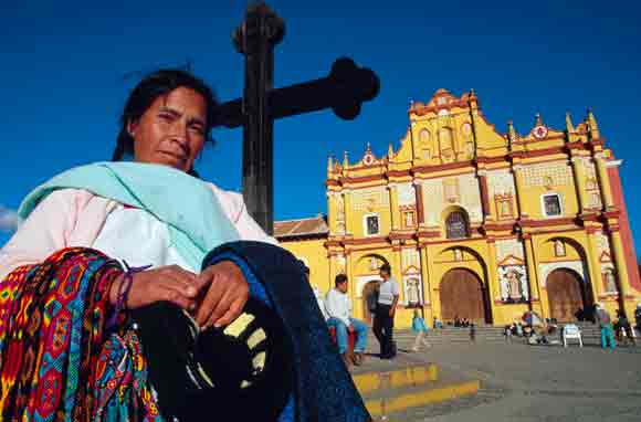La cathédrale de San Cristobal de Las Casas, état du Chiapas, Mexique