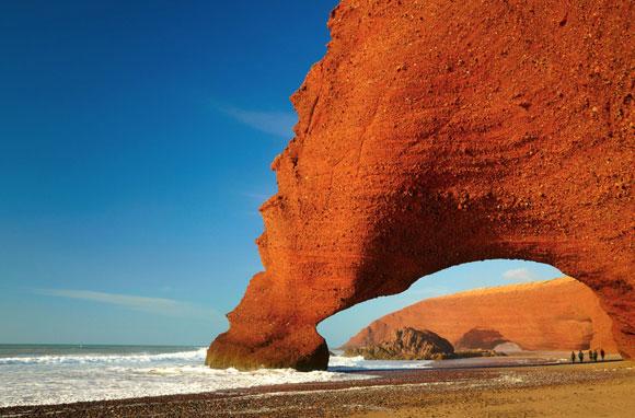 Les falaises rouges d'El Gezira - Mirleft - région du Souss – Maroc