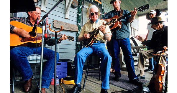 Musiciens cajuns jouant du blues, Louisiane. Etats-Unis